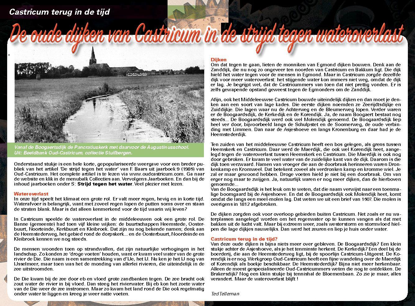 De oude dijken van Castricum in de strijd tegen wateroverlast